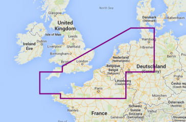 Navionics Platinum+ Syd England til Hamburg 25P+