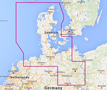 North Germany and western Denmark