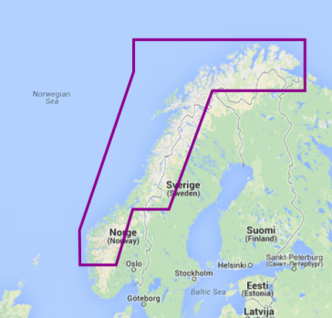 Navionics Platinum+ Vestlige Norge
