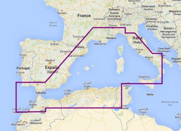 Navionics Platinum+ Vestlige Middelhavet