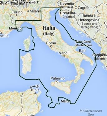 PC Søkort - Italien